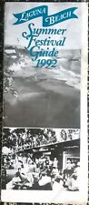 1992 LAGUNA BEACH SUMMER FESTIVAL GUIDE PAGEANT OF THE MASTERS FESTIVAL OF ARTS