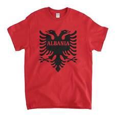 Albania T Shirt - Albanian Flag Logo Old Skool Hooligans Eastern Europe Flags