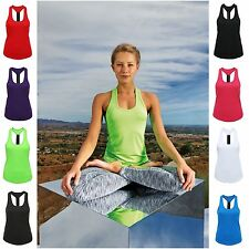Womens Sports Gym Racer Back Running Vest Fitness Jogging Yoga Singlet Tank Top