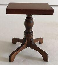 NOS Dollhouse Miniature Walnut Lamp Table Furniture Vintage Mini Dreams New