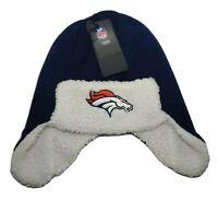 Denver Broncos OTS NFL Men's Breck Sherpa Hunter Knit Winter Cap Hat
