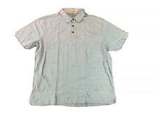 Peter Millar Polo Golf Shirt Mens Sz 2XL Stretch Speckled Light Blue Outdoors