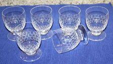 6 bicchieri stile Carl trasportata Lubecca cristallo vetro smerigliato vino dolce liquori in vetro