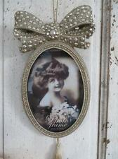 FREE POSTAGE - Hanging Silver French Photo Frame with Tassel
