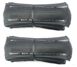 2 X Continental Grand Sport Race bicycle bike 700X25C Road Bike folding tyres