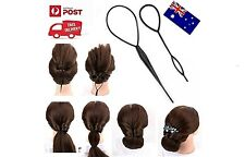 2pcs / Set Ponytail Creator Plastic Loop Styling Tools Topsy Pony Tail Clip Hair