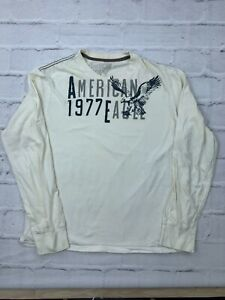 American Eagle Outfitters Men's Size Large Vintage Fit Pullover Sweatshirt Cream
