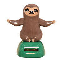Cute Cartoon Sloth Solar Swing Hand Car Dashboard Home Ornament Gift Decor Oma