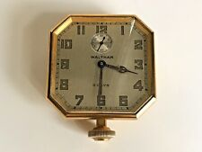 WALTHAM USA 8 DAY OPEN FACED BIG POCKET WATCH OCTAGON SHAPE RARE WORKING