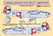 KORA Decals 1/72 SWISS CONSOLIDATED B-24H LIBERATOR Bomber