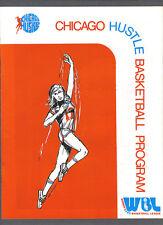 Chicago Hustle vs Dayton Rockettes 1978-79 womens basketball league program
