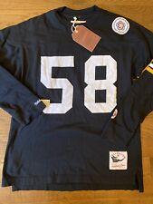 Mens Size Large Mitchell & Ness Vintage Jack Lambert Jersey/Sweatshirt Steelers