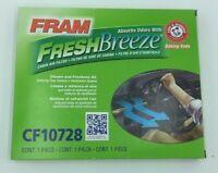 NIB FRAM CF10728 Fresh Breeze Cabin Air Filter with Arm & Hammer FREE SHIPPING