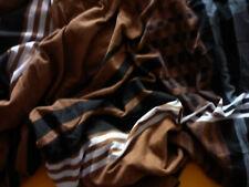 Bettwäsche 155 X 220 von H.I.S. Flanell grau-braun-weiß mit Reißverschluß
