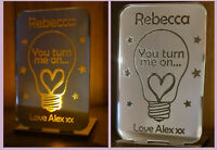 Personalised Valentine's Gift Tea Light Candle Holder Gifts for Her Him Unusual