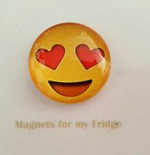 EMOJI 'HEART EYES / FACE' SMILEY FRIDGE MAGNET - M231