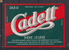 A319   Ancienne étiquette Bière France Brasserie de Clerck Cadett