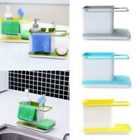 Kitchen Sink Storage Holder Drain Rack Sponge Dish Cleaning Organizer Q4B1
