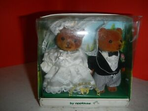 NEW Teddy Bear Story bride and groom by Applause