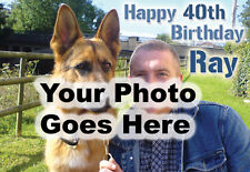 Personalizzato Buon Compleanno / greeting card con la vostra foto EG. famiglia Animali da compagnia Hols
