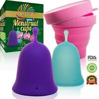Talisi Menstrual Cups with Collapsible Silicone Foldable Sterilizing Cup