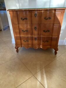 Solid Cherry Commode Chest French Country Louis XV Serpentine