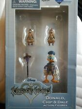Disney Kingdom Hearts Donald, Chip and Dale Action Figures NIB by Diamond Select