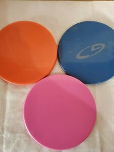 "3 Sets of Core Sliders Pink Blue and Orange  7"" diameter"