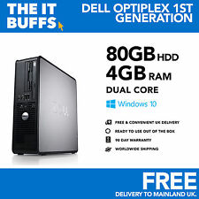 Windows 10 Desktop PC Computer Dell OptiPlex Dual Core 4GB RAM 80GB HDD