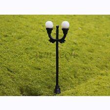 10pcs N Gauge 1:150 Scale Model Lamppost Scene Street Light up Decor