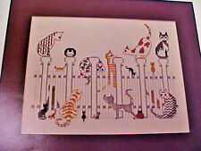 Cross Stitch Chart Thread Connections Recess Cats on Fence Designed for 14-18 Ct