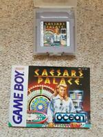 Genuine Nintendo GameBoy Game Cesars Palace with instructions casino cards
