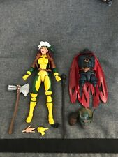 Marvel Legends Lot Retro Rogue and other accessories and BAF Pieces