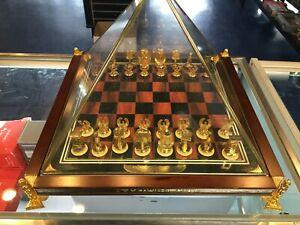 "RARE Franklin Mint ""King Tutankhamen Egyptian Chess Set"" King Tut Chess Set"