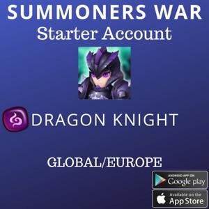 Summoners War Dark Dragon Knight Ragdoll Starter Account