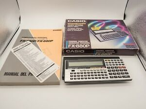 CASIO FX-880P ORDENADOR DE BOLSILLO PROGRAMABLE DE 1987