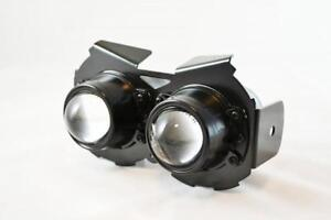 Motorbike Black Headlight 12V 55W Streetfighter & Cafe Racer Project - BLEMISHED