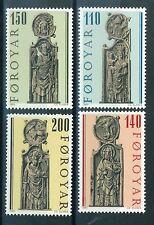 Faroe Islands Stamps - Scott # 55-58 MNH - Gothic Pews 1980 (S268)