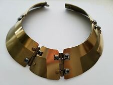 **Lanvin** Gold Crystal Choker/Necklace (Brooch, Belt, Dress, Top)