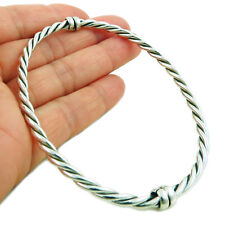 Large Twisted Bangle Hallmarked 925 Sterling Silver Oval Cuff Gift Boxed