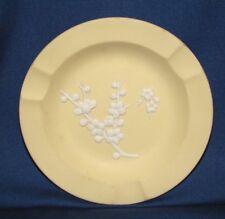 Wedgwood Primrose Yellow Jasperware Prunus Ashtray