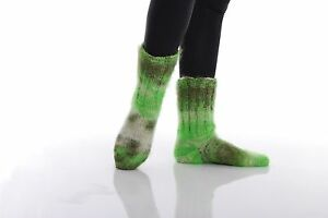 Hand knitted Mohair Socks Warm Fluffy Handmade Leg warmers 13