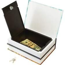 Large Faux Diversion Book Safe, Book Safe Locking Metal Inner Compartment 2 Keys