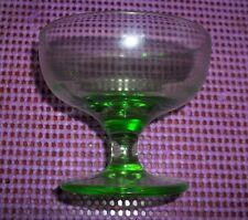 Green Depression Glass Sherbert Dessert Bowl Custard Dish