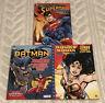 Superman Batman Wonder Woman Jumbo Coloring Activity Book Lot DC Comics