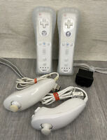LOT Of GENUINE Nintendo Wii Remote Control Nunchucks & Motion Plus Sensor