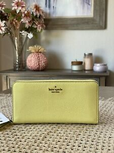 NWT Kate Spade New York Jackson Large Leather Continental Wallet in Limelight