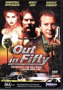 Out In Fifty DVD Mickey Rourke Cristina Applegate - CRIME REVENGE SCOTT LEET
