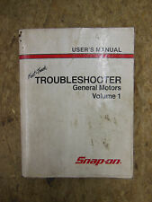 Snap On Tools General Motors Troubleshooter Manual Volume 1 Tenth Edition 2000