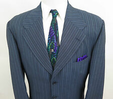 Loro Piana Lanificio Wool Mohair Striped Blazer Jacket Sport Coat 46 R EUC Italy